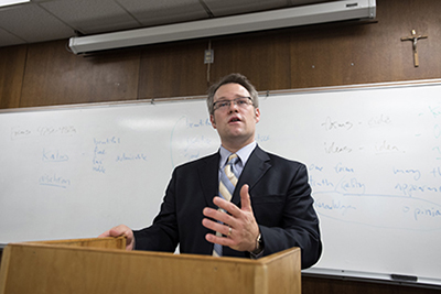 Director of International Studies and Associate Professor of Politics Jonathan Culp