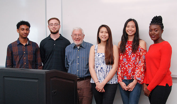 Dr. Doe and Students in Classroom